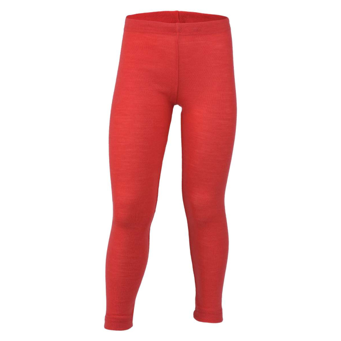 Engel, Kinder Leggings, rot-melange, Wolle