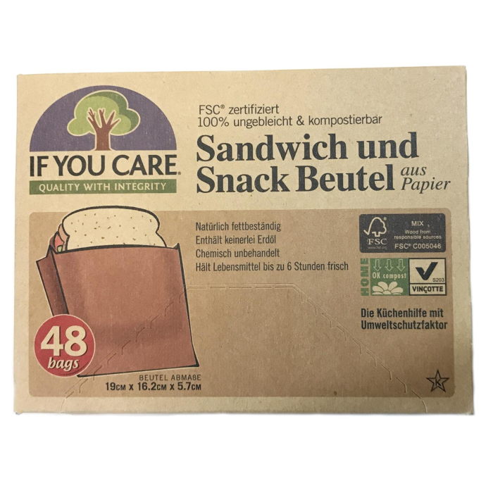 IF YOU CARE, Sandwich und Snack Beutel, aus Papier